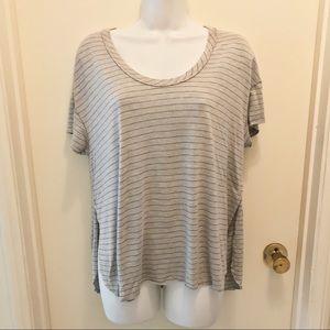 PROJECT SOCIAL T | Striped High-Low Shirt L